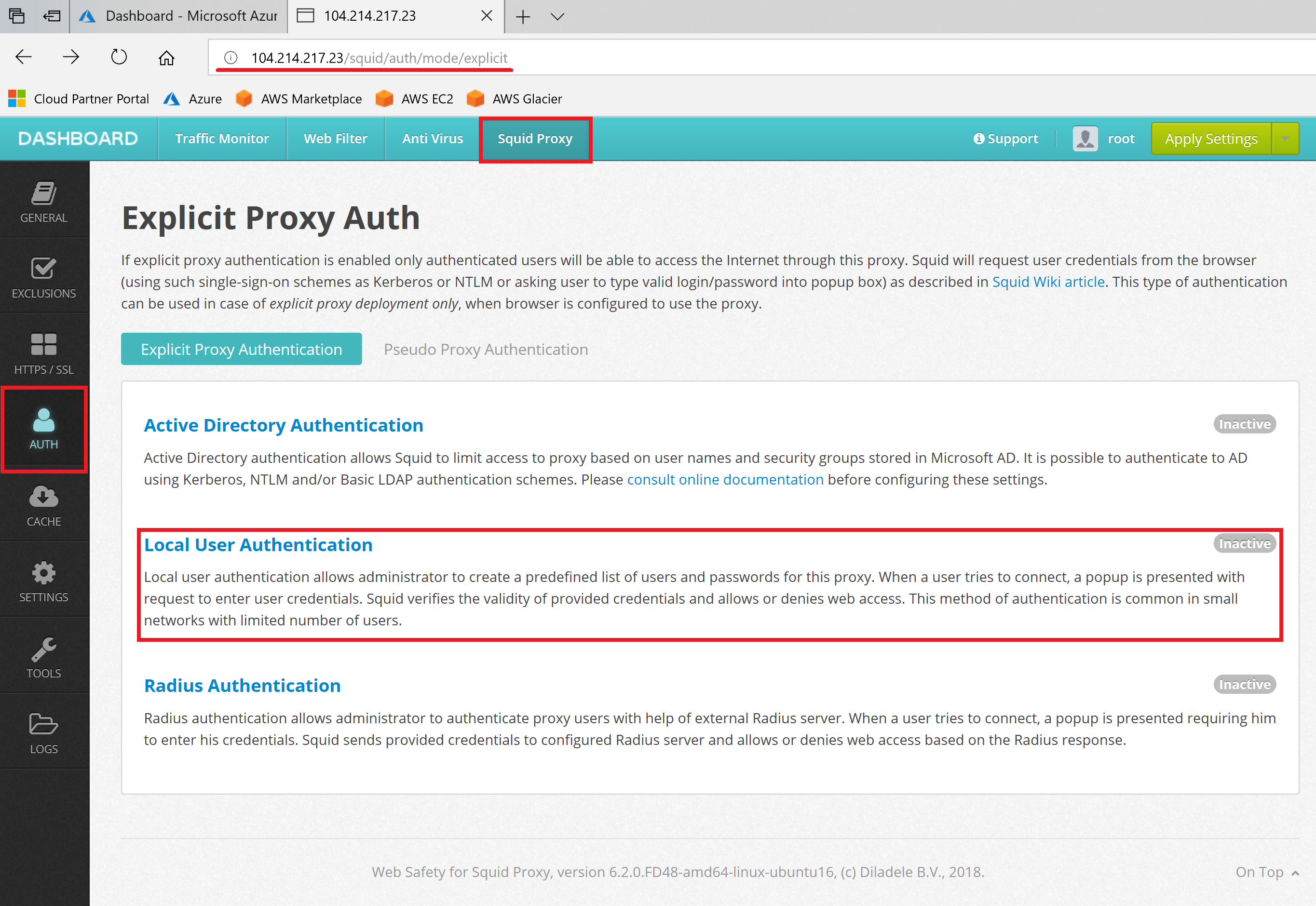 Enable Basic Proxy Authentication on Squid — Web Filter for Squid