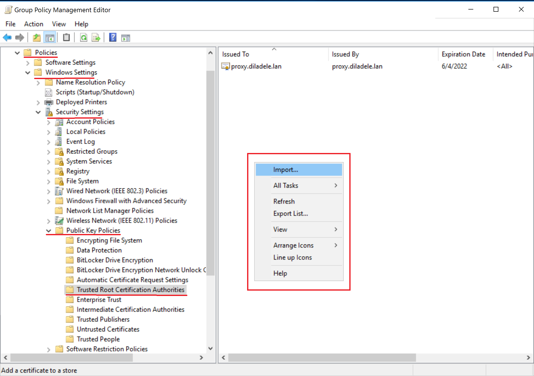 How To Deploy Root Certificate Of Web Safety Using Group Policy